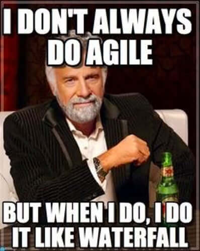 Agile methodology like waterfall