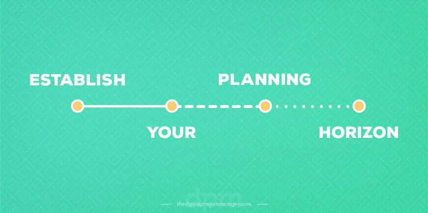How to create a perfect project plan - establish your planning horizon