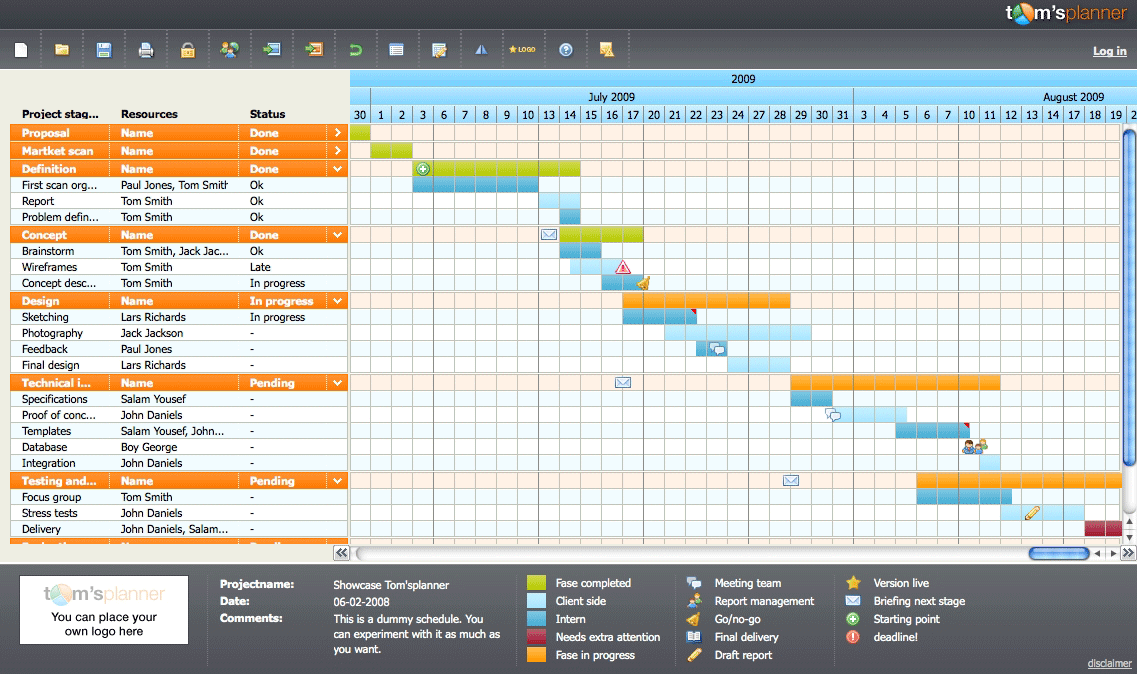 10 microsoft project alternatives includes free options toms planner screenshot microsoft project alternative for creating gantt chart ccuart Choice Image