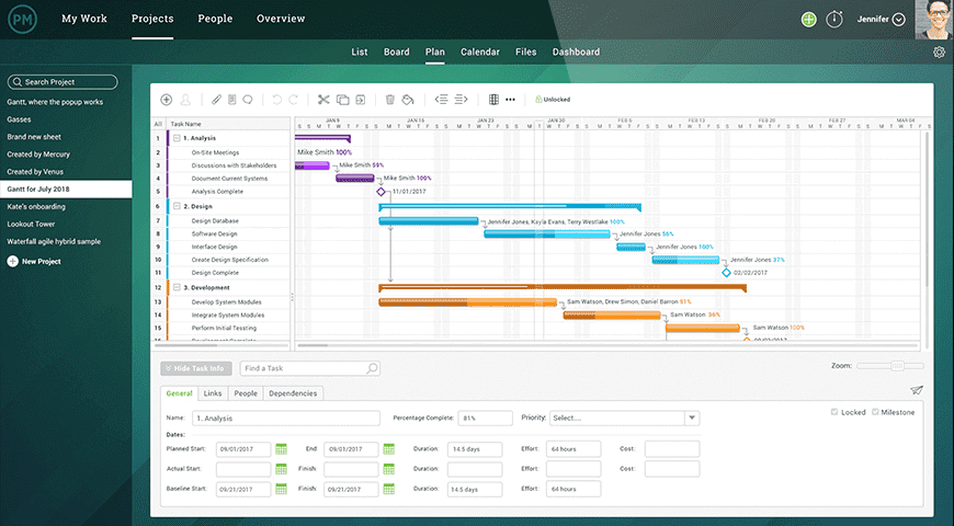 Project Manager screenshot - Les meilleures alternatives payantes et gratuites à Microsoft Project de 2020
