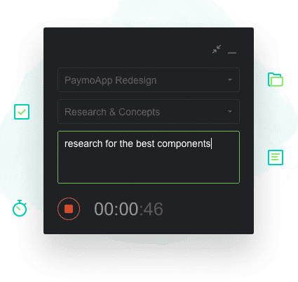 Project management tool Paymo - web timer