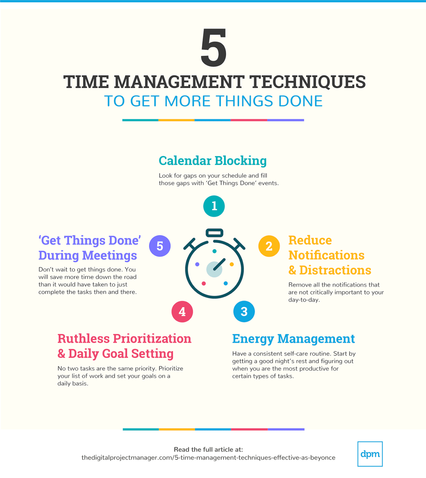 5 Time Management Techniques
