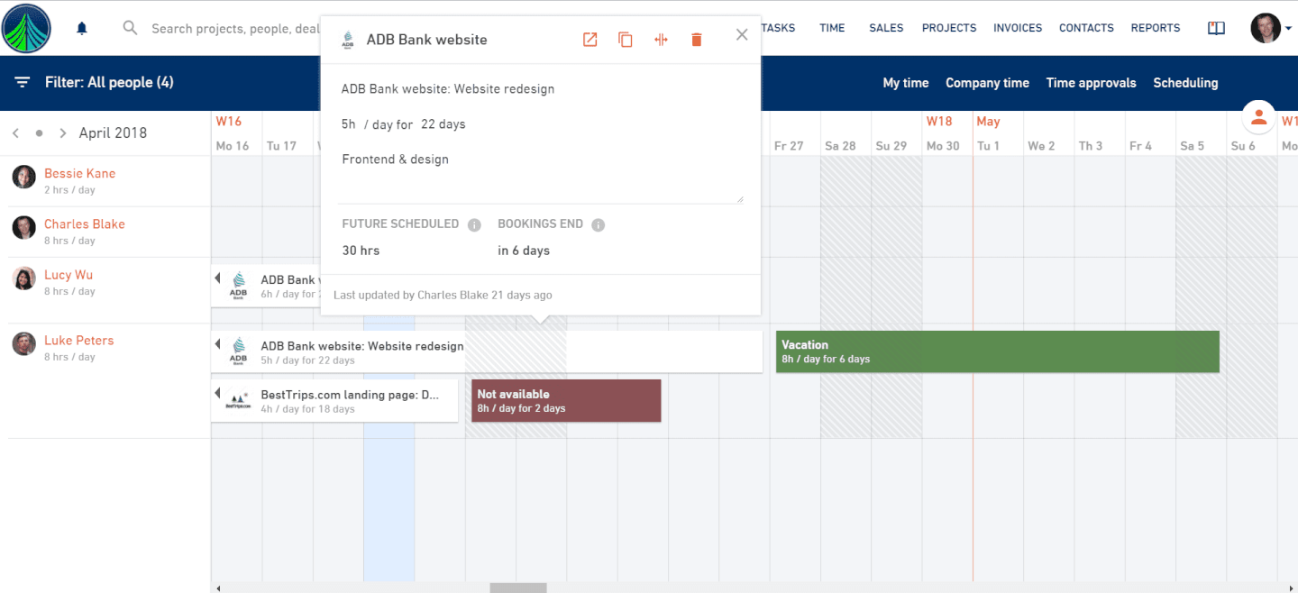 productive - scheduling feature