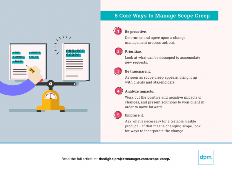 5 ways manage scope creep