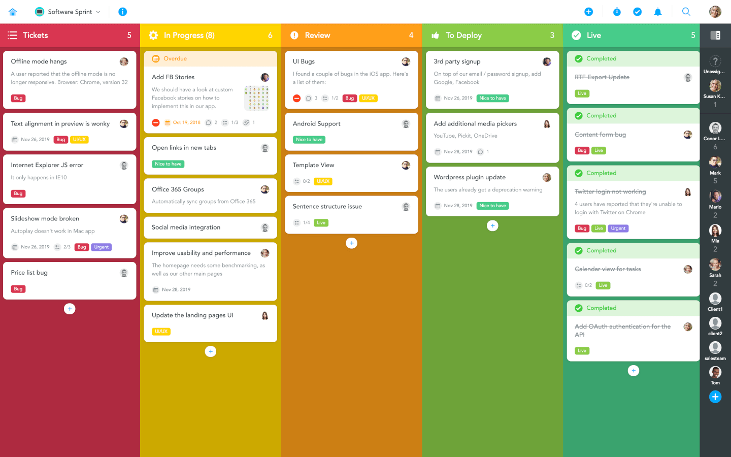 MeisterTask screenshot - List Of The 10 Of The Best Scrum Tools To Increase Your Team's Productivity