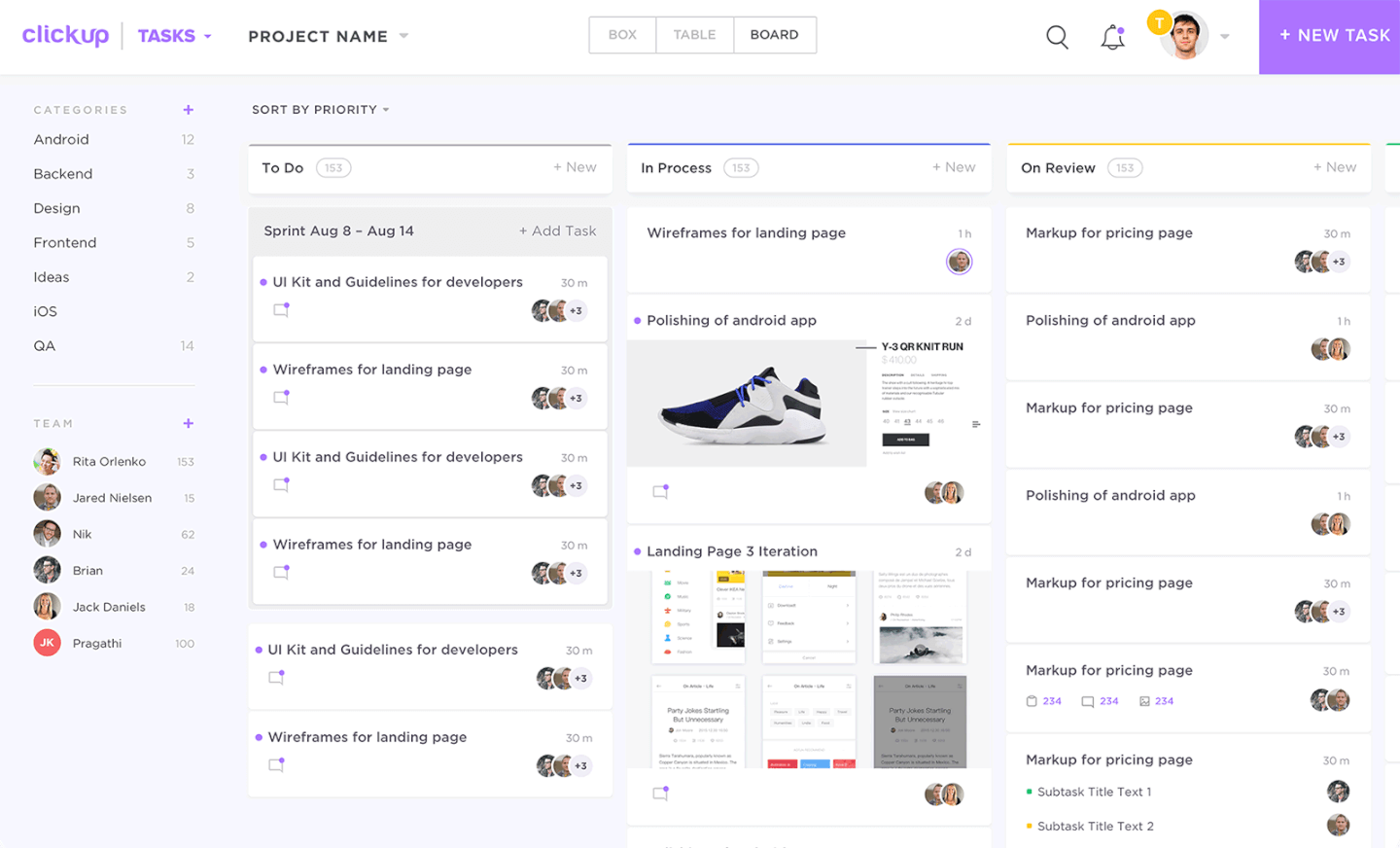 ClickUp screenshot - List Of The 10 Of The Best Scrum Tools To Increase Your Team's Productivity