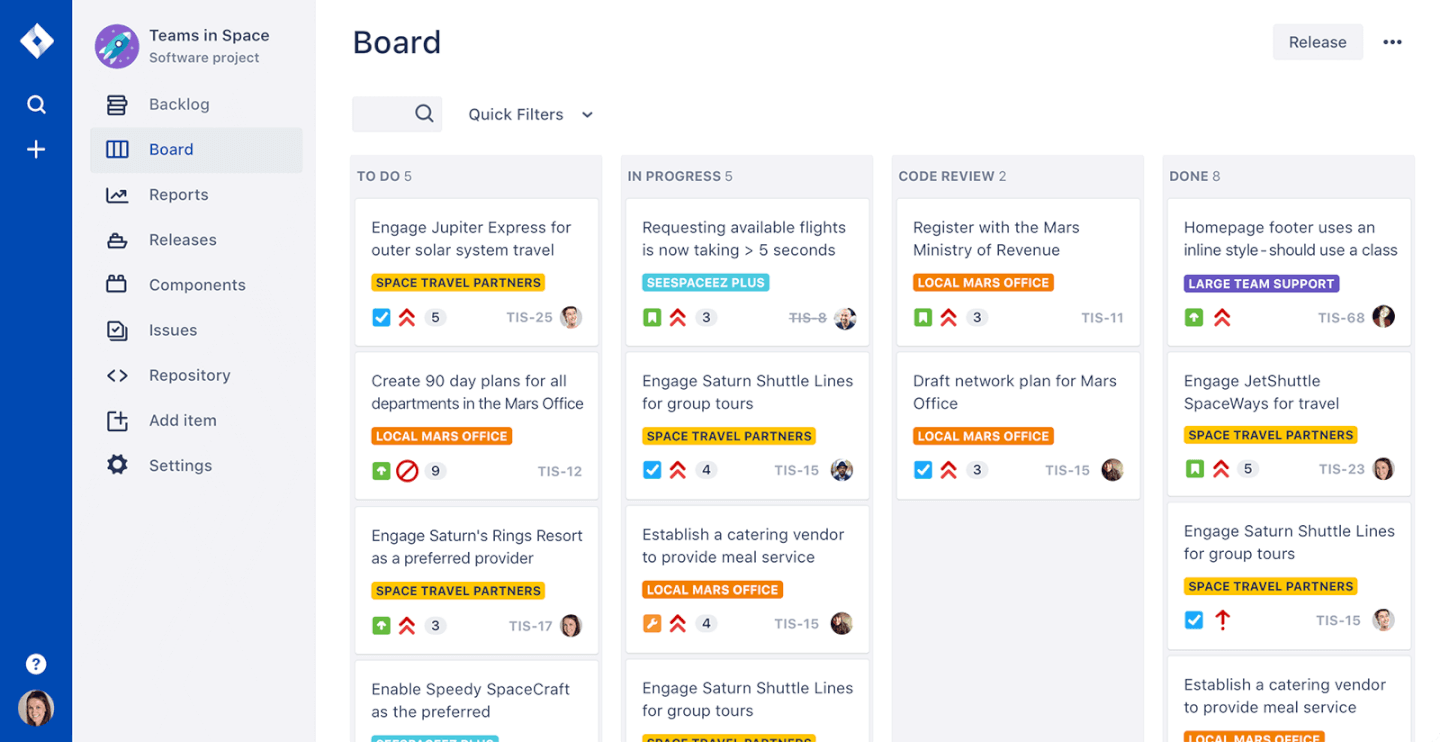 Jira screenshot - List Of The 10 Of The Best Scrum Tools To Increase Your Team's Productivity