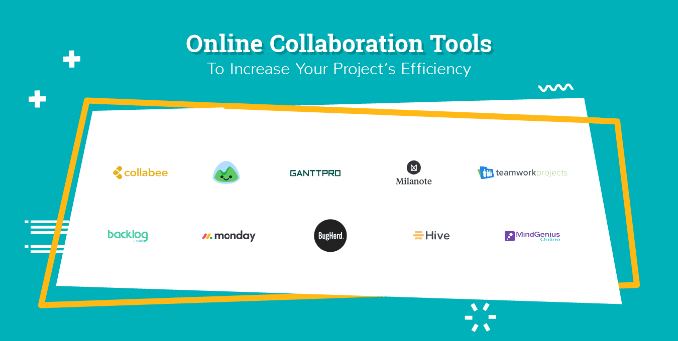 Online Collaboration Tools Logo Soup
