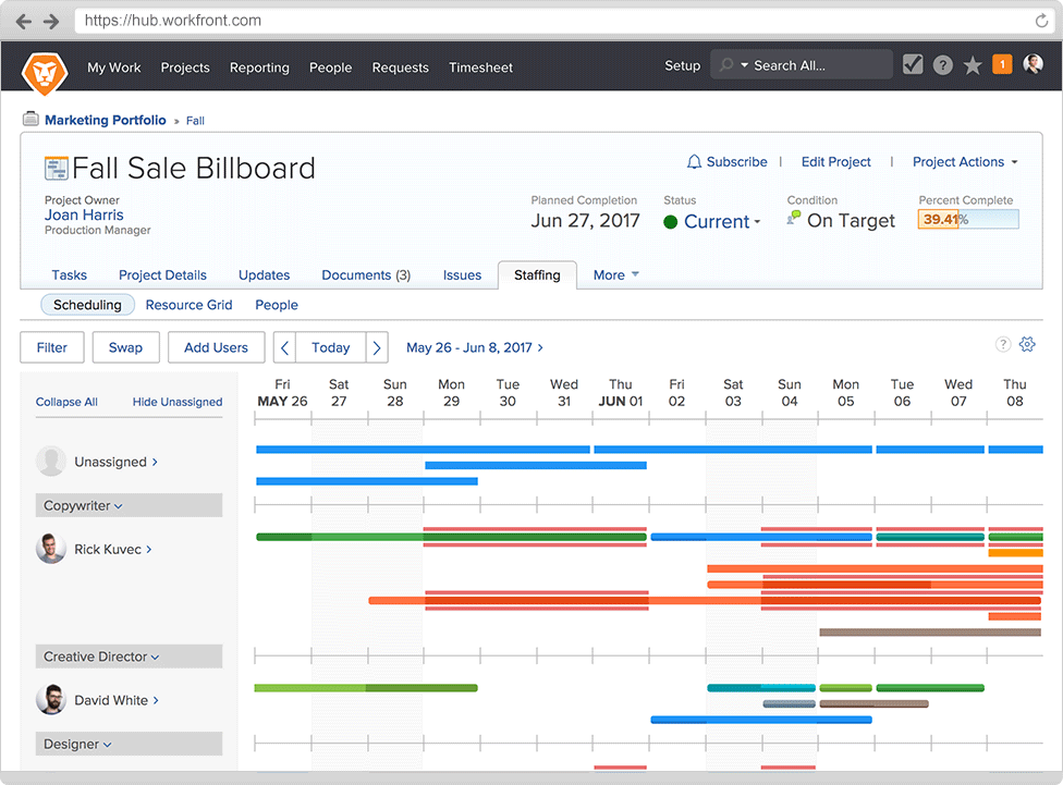Workfront screenshot - Plan Your Projects: 10 Best Project Scheduling Software Of 2020