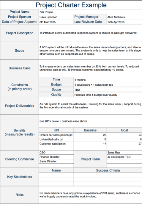 Scope Document Template from thedigitalprojectmanager.com