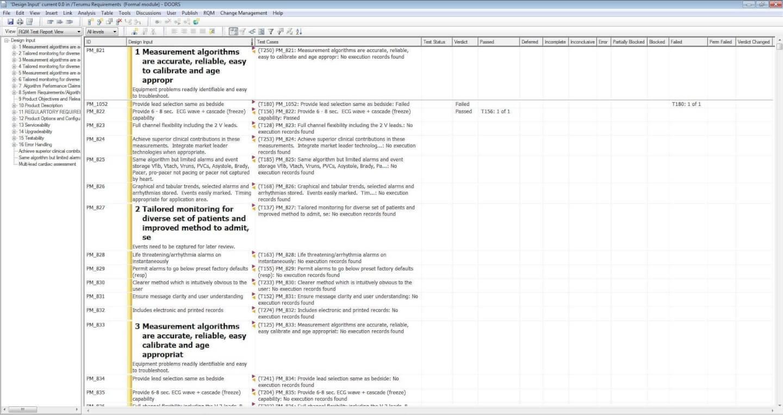 rational doors screenshot - requirements management tools