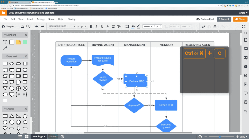 Lucidchart screenshot - Compare The 10 Best Mind Mapping Software of 2020