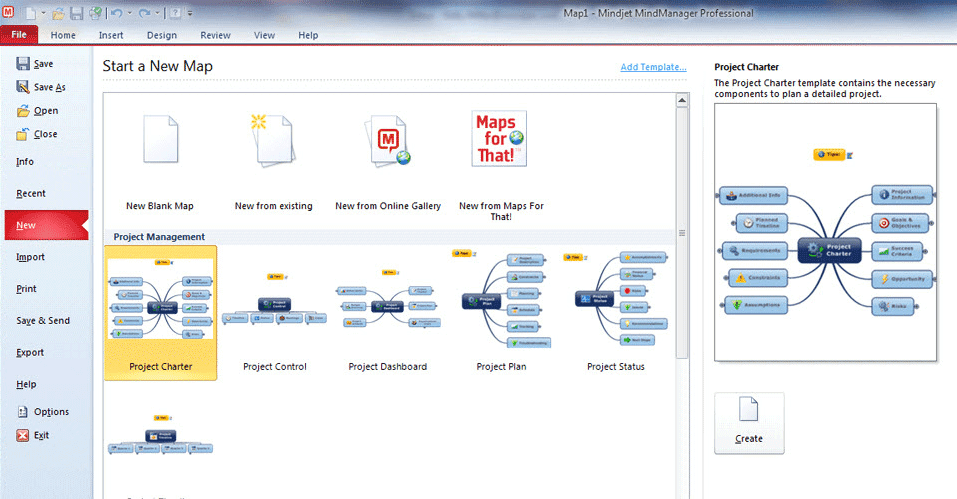 Mindmanager screenshot - brainstorming tool