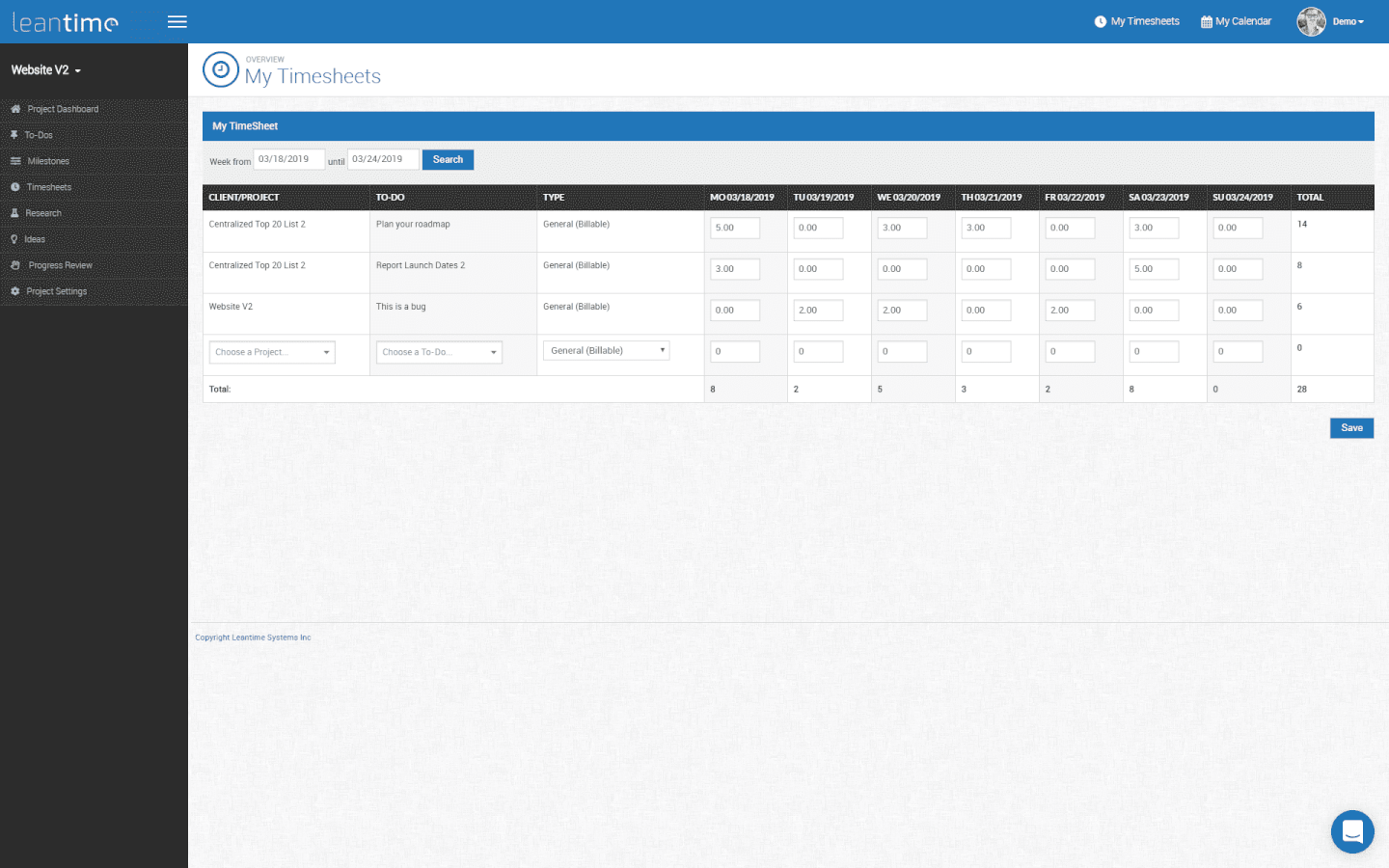 leantime-projectmanagement-software-tool-screenshot-Timesheets