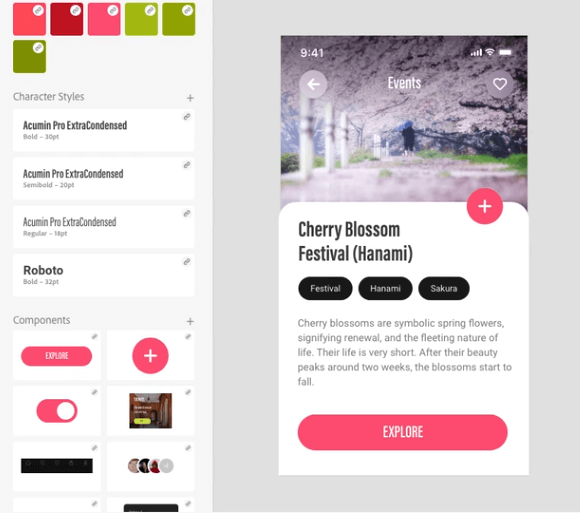 Adobe XD screenshot - The 10 Best Wireframe Tools To Make Wireframes, Mockups & Prototypes