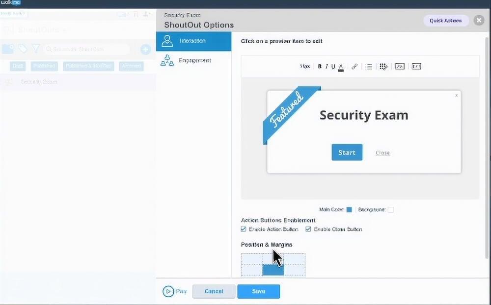 Screenshot of a WalkMe Security Notification