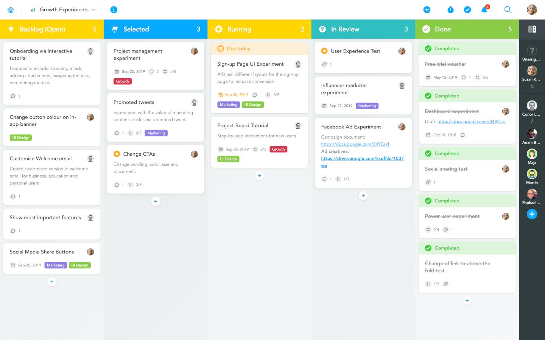 MeisterTask screenshot - Kanban tools