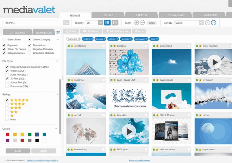 MediaValet screenshot - Digital Asset Management Software