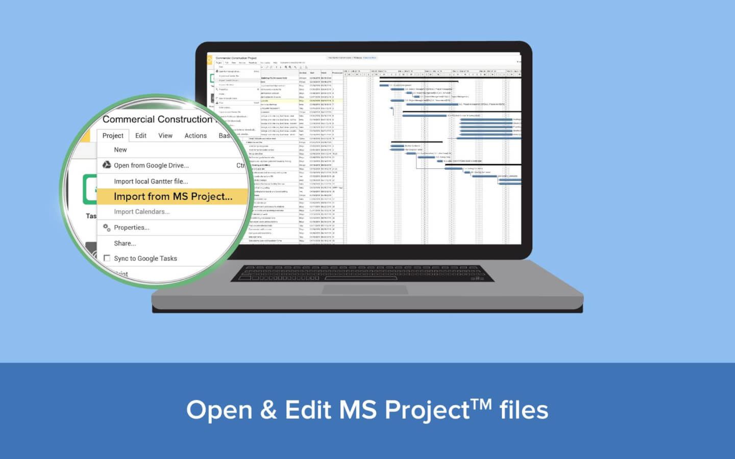 Open and edit MS Project files image