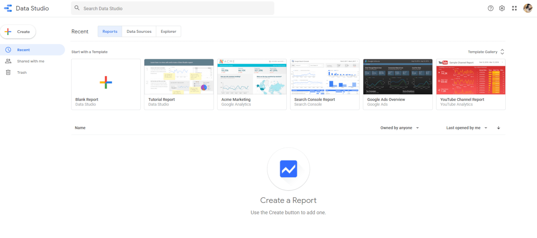 Google Data Studio screenshot - <thrive_headline click tho-post-35129 tho-test-151>List Of The 10 Best Reporting Tools</thrive_headline>