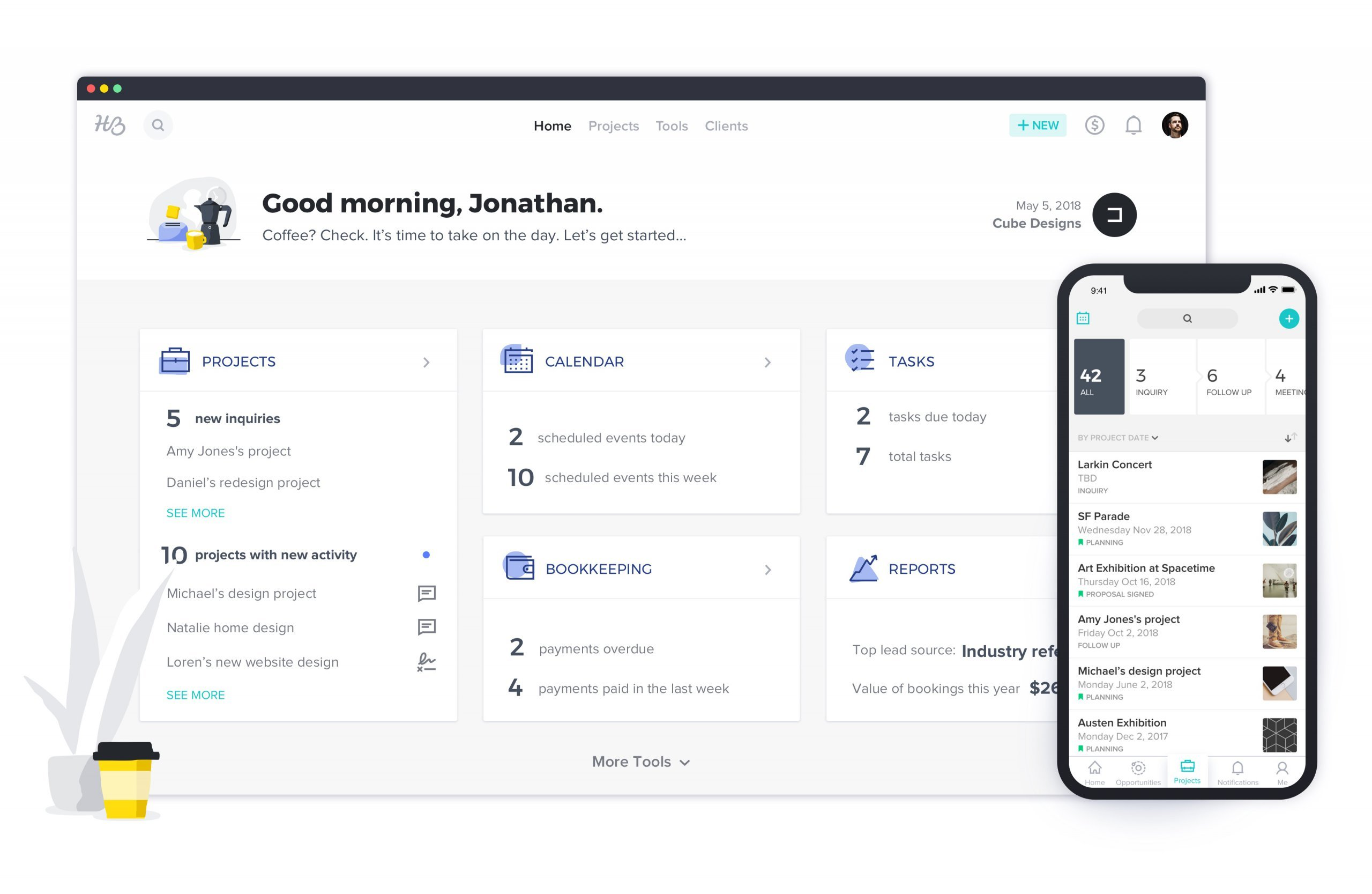 HoneyBook screenshot - <thrive_headline click tho-post-34528 tho-test-152>Best Proposal Management Software Tools To Win New Business</thrive_headline>