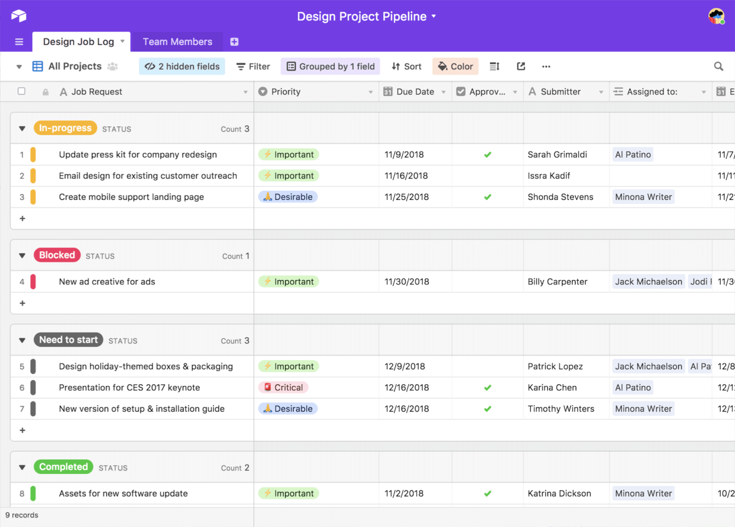 Airtable screenshot - List Of 10 Free Project Management Software, Free Trials & Freemiums
