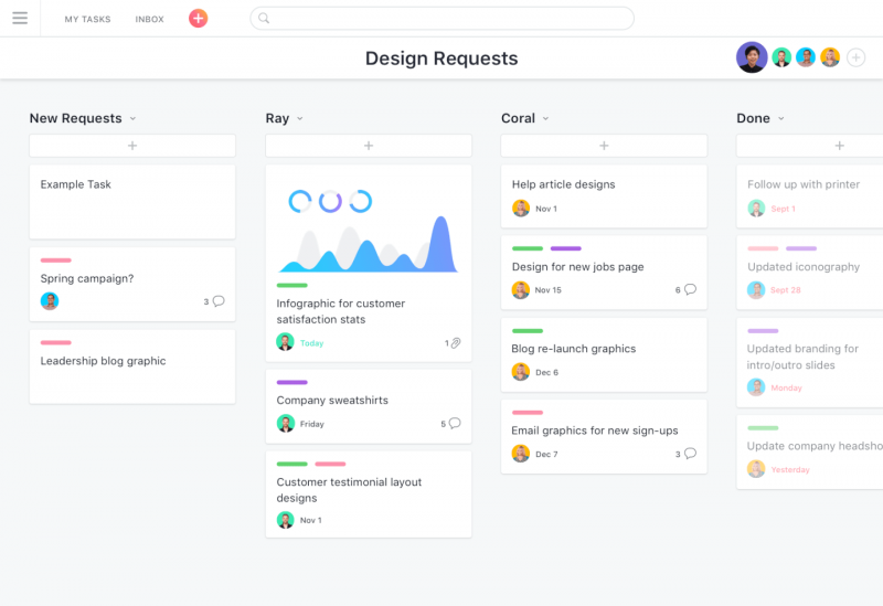 Asana task management screenshot