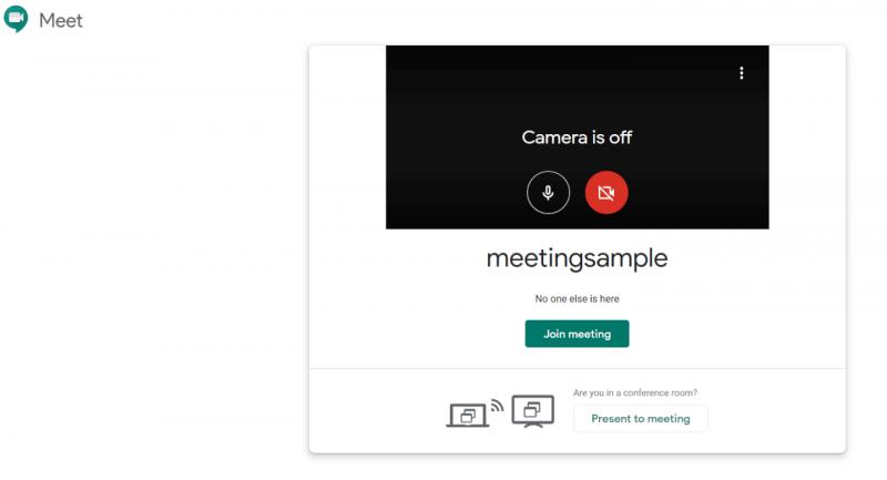 Google Hangouts screen sharing screenshot