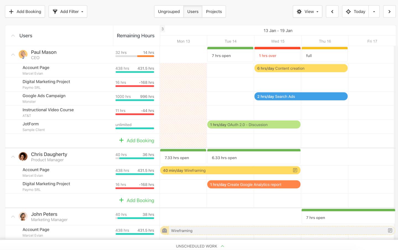 Resource Management Screenshot