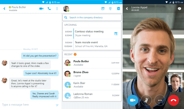 Skype for Business screenshot - List Of The 17 Best Screen Sharing Software and Streaming Hardware in 2020