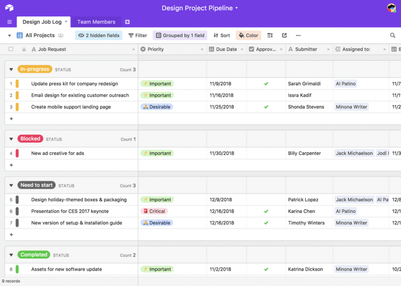Airtable Client Database Tool Screenshot