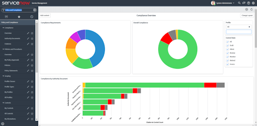 ServiceNow Governance Risk and Compliance screenshot - The 10 Best GRC Tools to Navigate Risk and Compliance Concerns for Public Companies