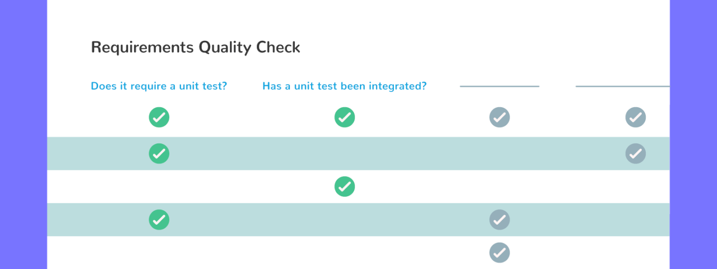 software quality management plan requirements quality check screenshot