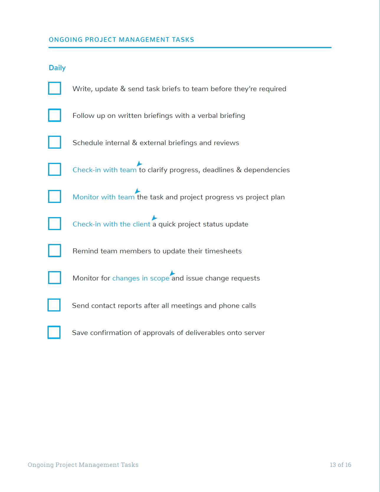 Graphics Of Ultimate Project Checklist Ongoing Tasks