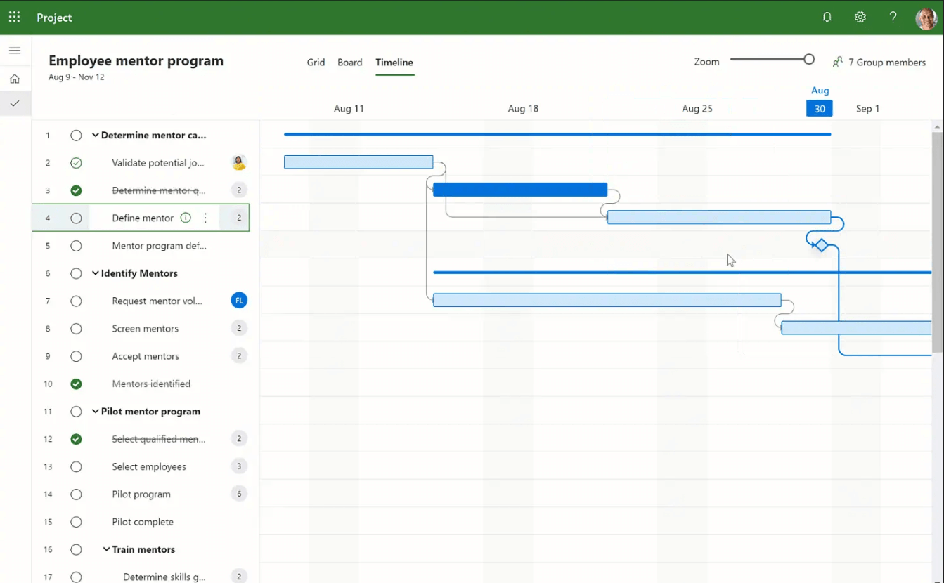 Microsoft Projects screenshot - Compare The 10 Best Project Management Software of 2020