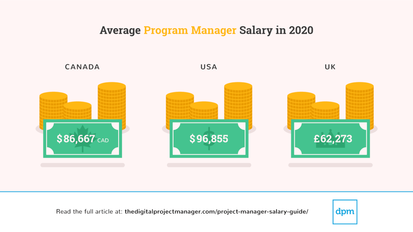 Salary Survey 2020 average program manager screenshot