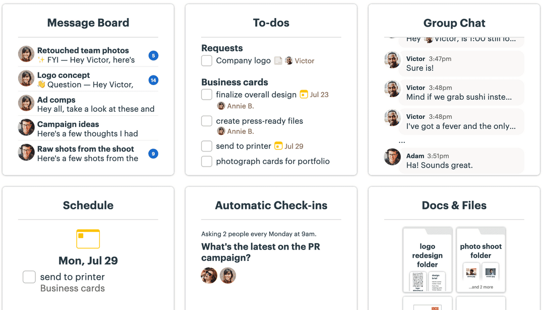 Basecamp screenshot - 10 Best Project Management Software For Small Business