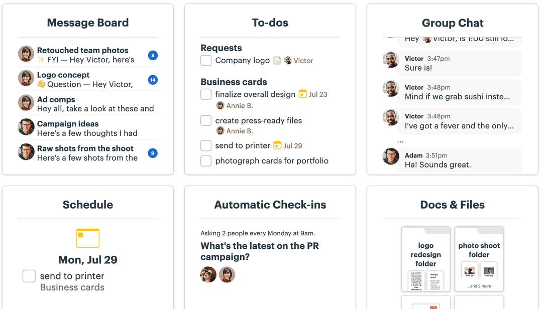 Basecamp screenshot - 10 Best Project Management Software For Startups