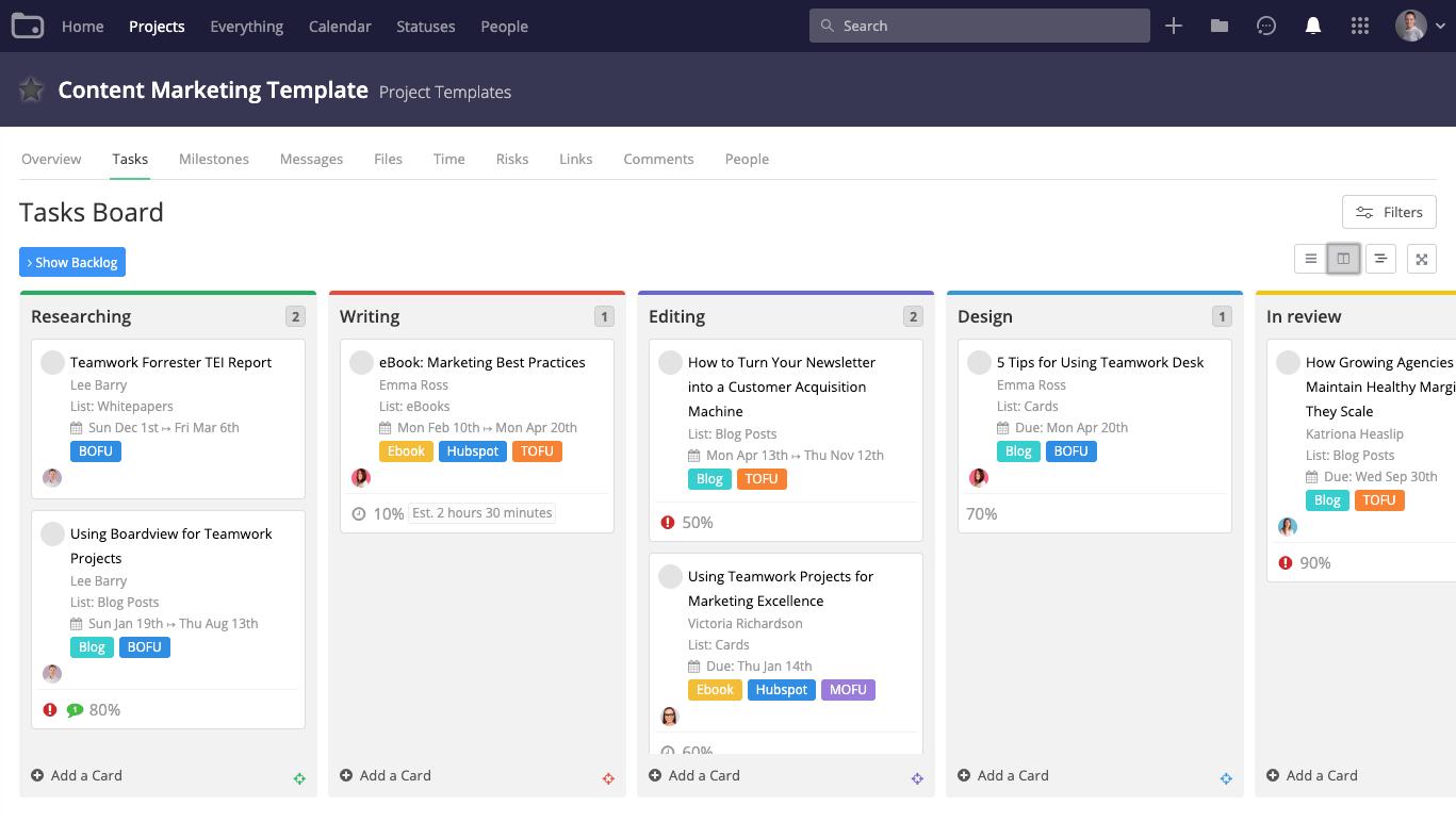 Teamwork screenshot - The 10 Best Task Management Software For Getting More Work Done, Faster