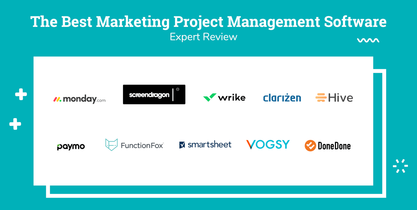 Logo Soup of Marketing Project Management Software