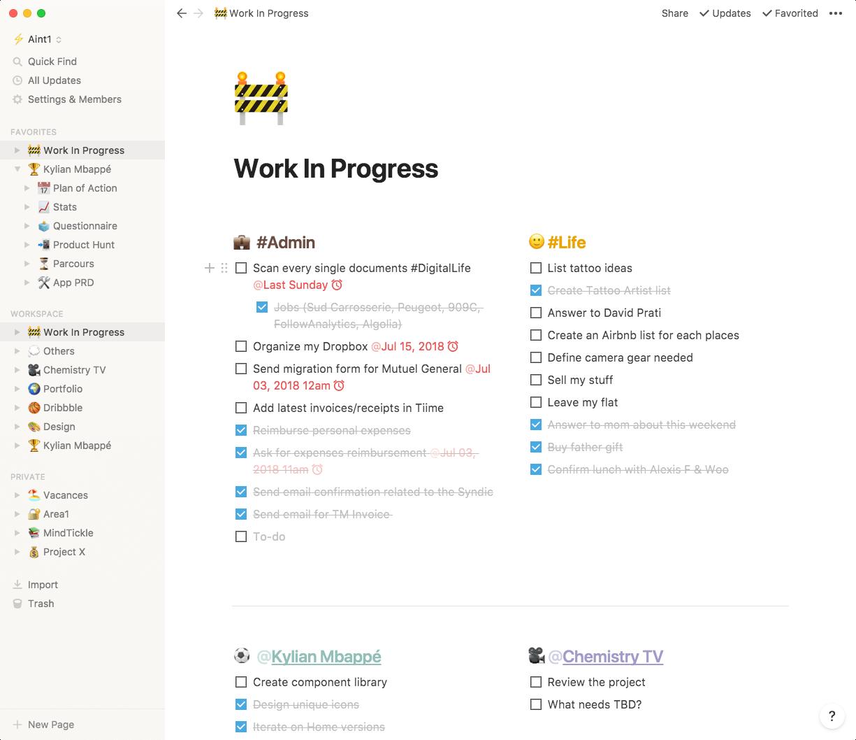 Notion screenshot - 10 Best Project Management Software For Startups