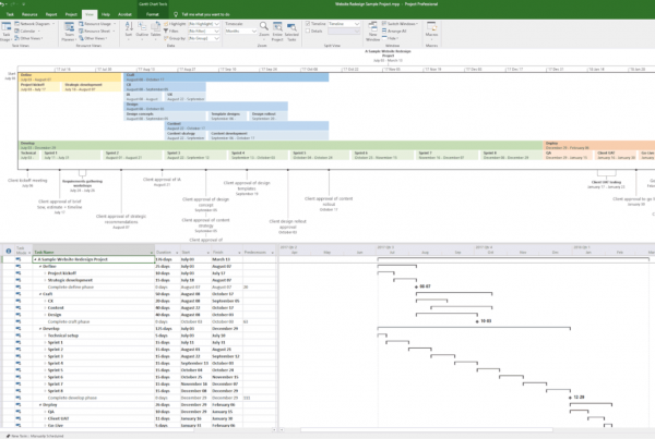 hybrid methodology sample project plan screenshot