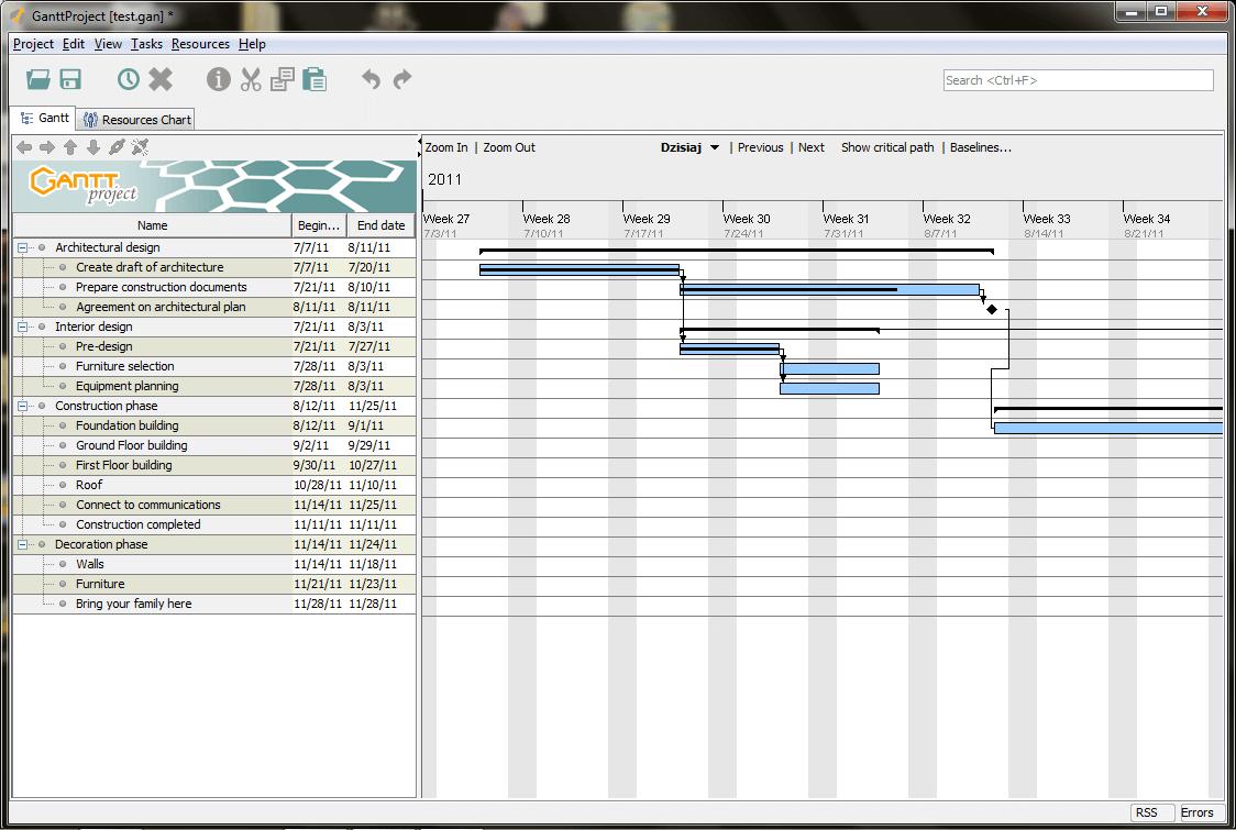 GanttProject screenshot - 10 Best Free Gantt Chart Software Of 2021
