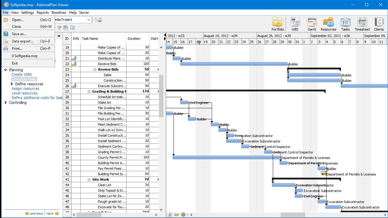 RationalPlan screenshot - 10 Best Free Gantt Chart Software Of 2021