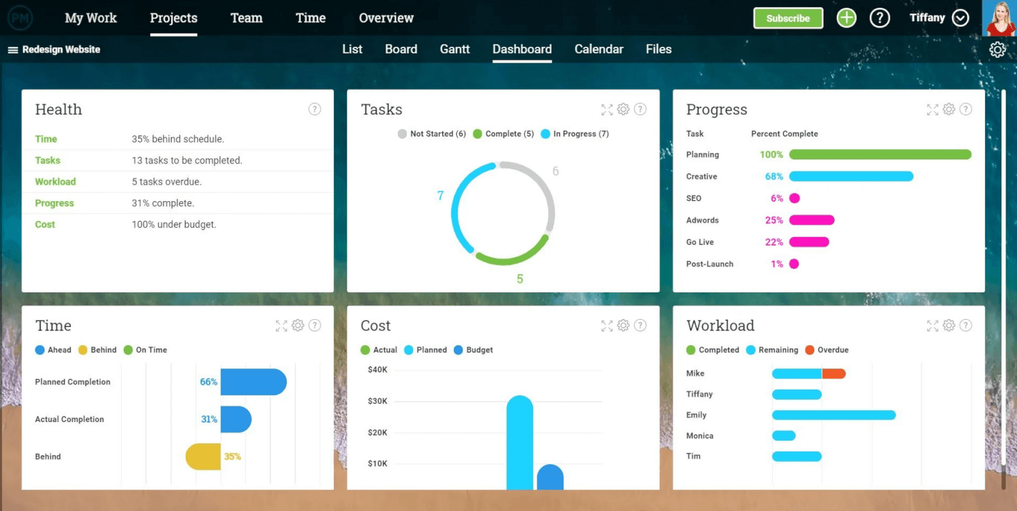 ProjectManager screenshot - 10 Best Team Project Management Tools For 2021