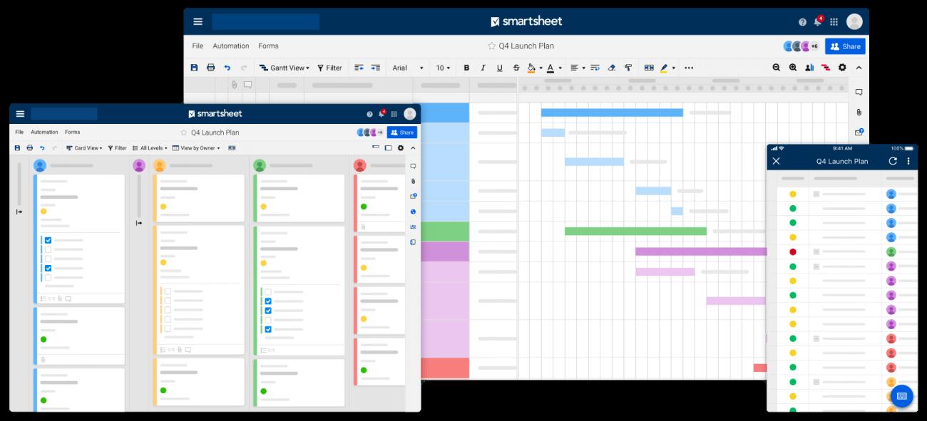 Smartsheet screenshot - 10 Best Kanban Software Of 2021