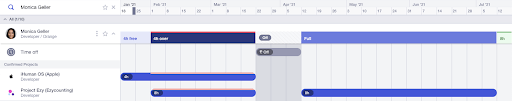 screenshot of runn capacity management