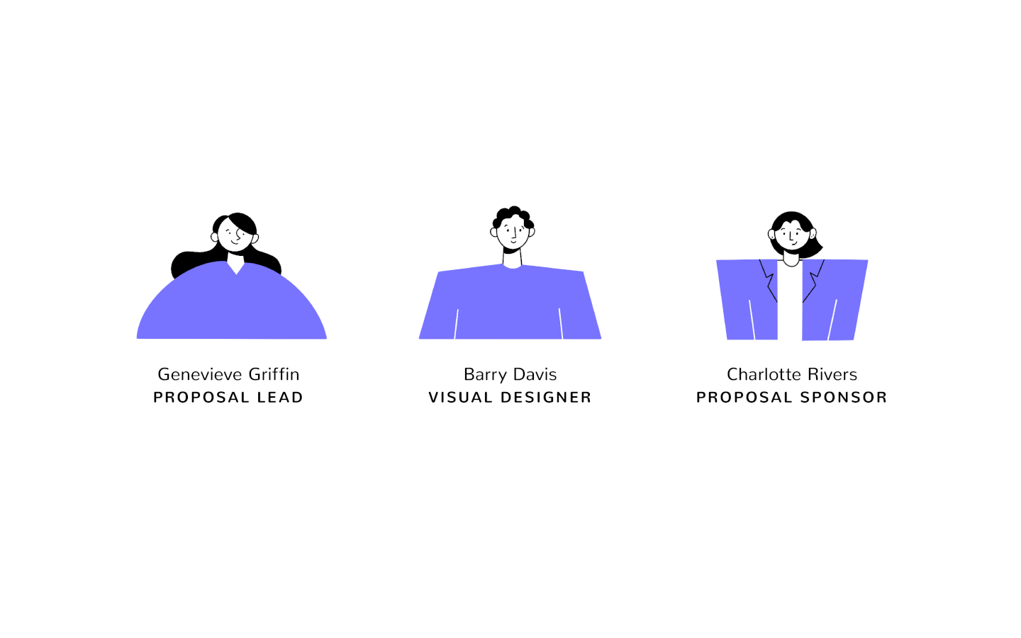 illustration of proposal team members