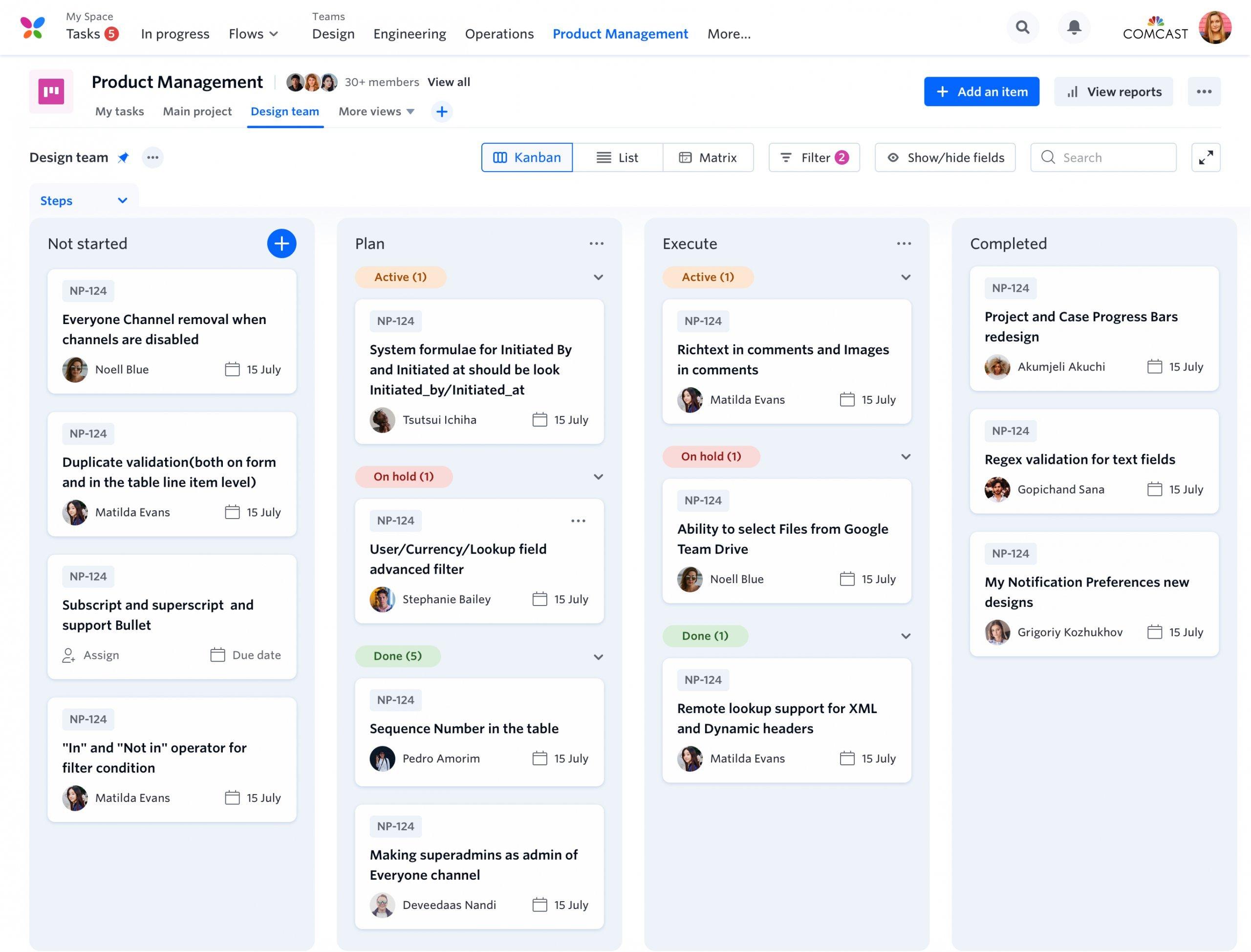 Kissflow Project screenshot - 10 Best Creative Agency Project Management Software [2021]