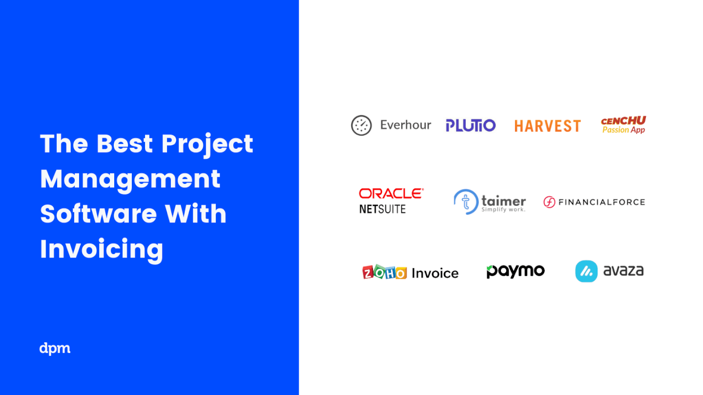Project Management Software with Invoicing DPM Logo Soup 2021